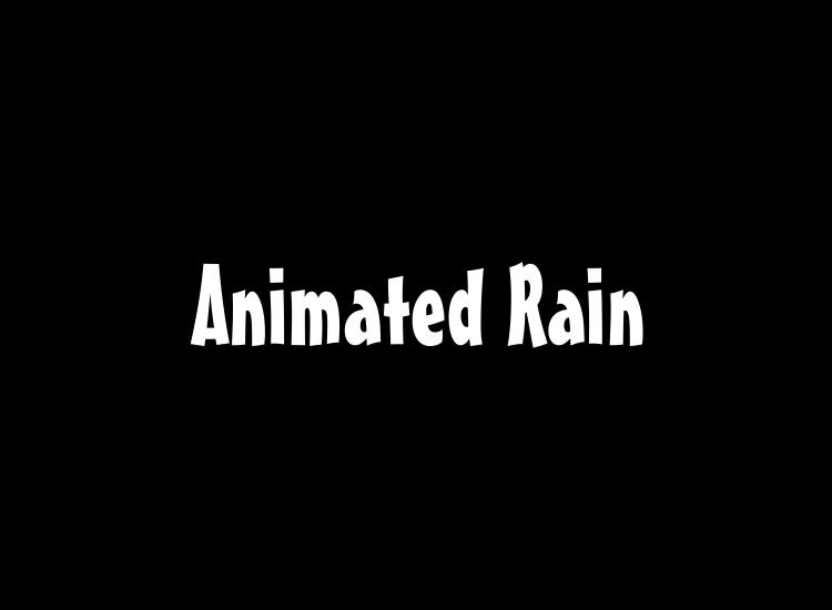 Animated Rain Desktop HD by MrQuicksilver 750x550