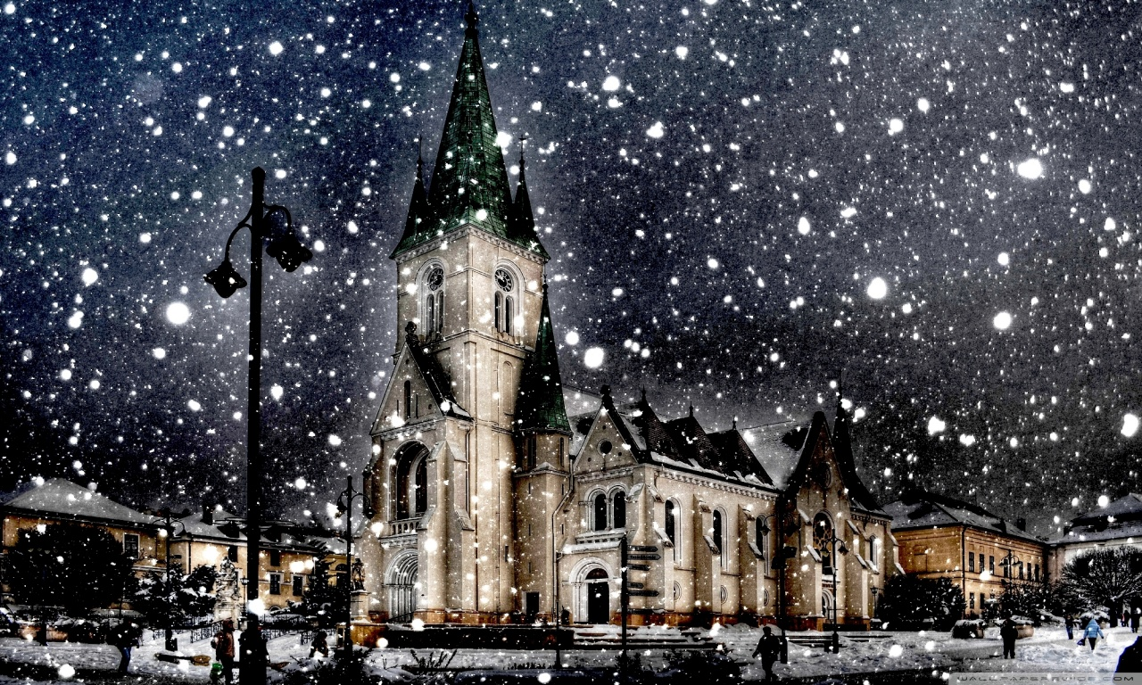 Snow City Winter Season HD Wallpaper Stylish HD Wallpaper 1280x768
