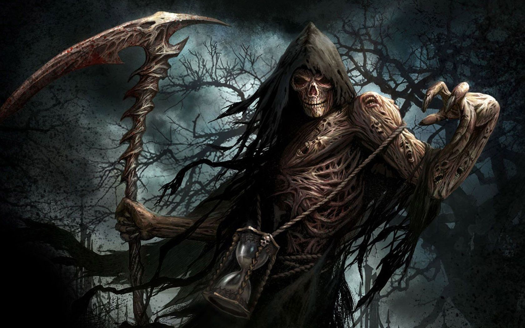 Download Scary Grim Reaper wallpaper 1680x1050