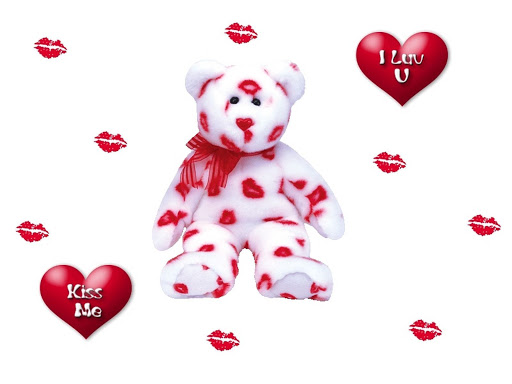 swift attack bear cute i love you kiss me wallpaper fanpopjpg 512x384