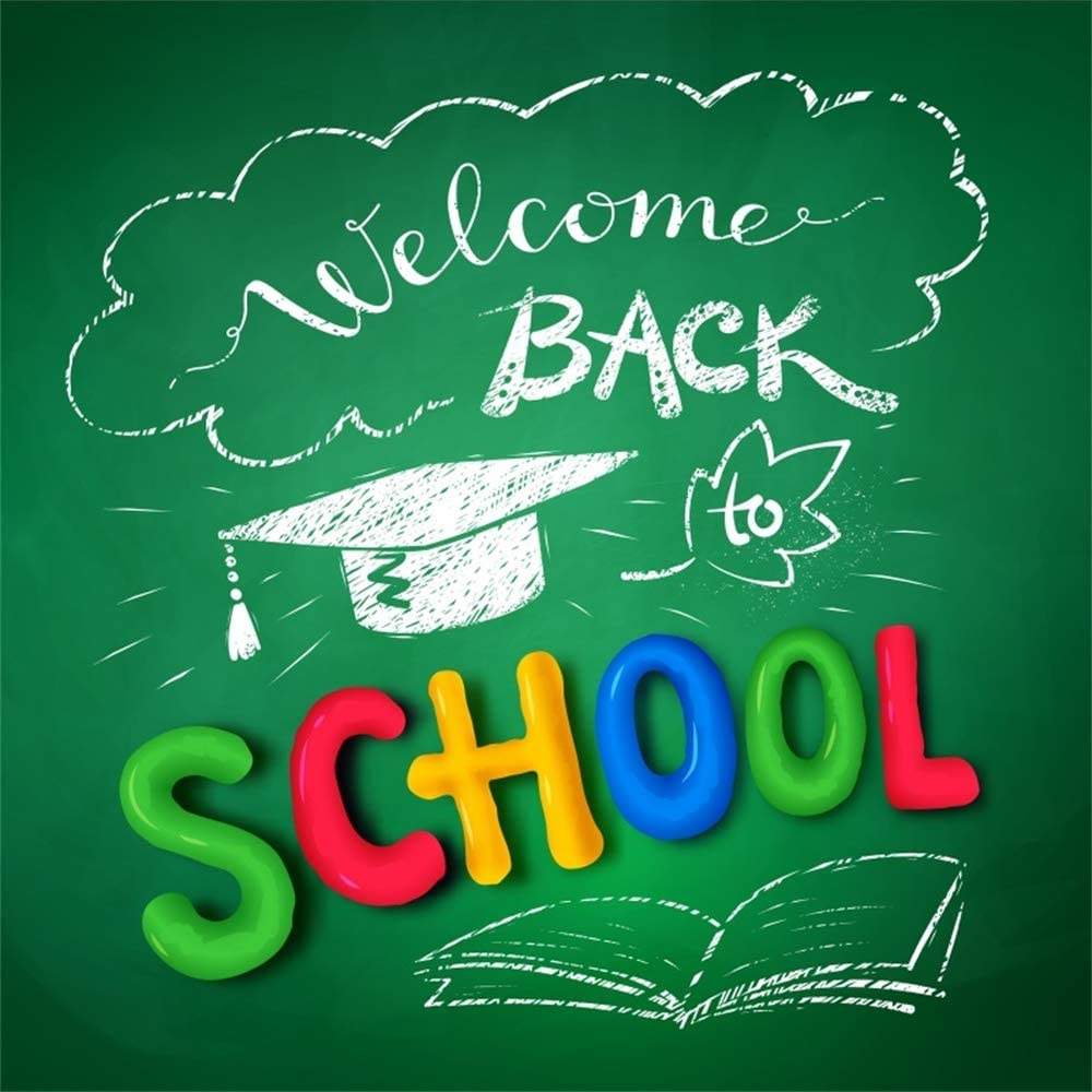 Amazoncom Laeacco 5x5ft Welcome Back to School Vinyl 1000x1000
