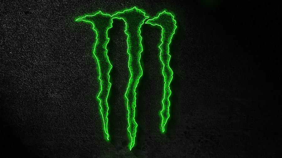 Monster Energy Glowing Wallpaper by TheJester26 900x506