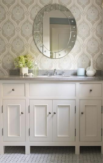 Kelsey M Design Wallpaper Wednesday  Bathrooms 338x537