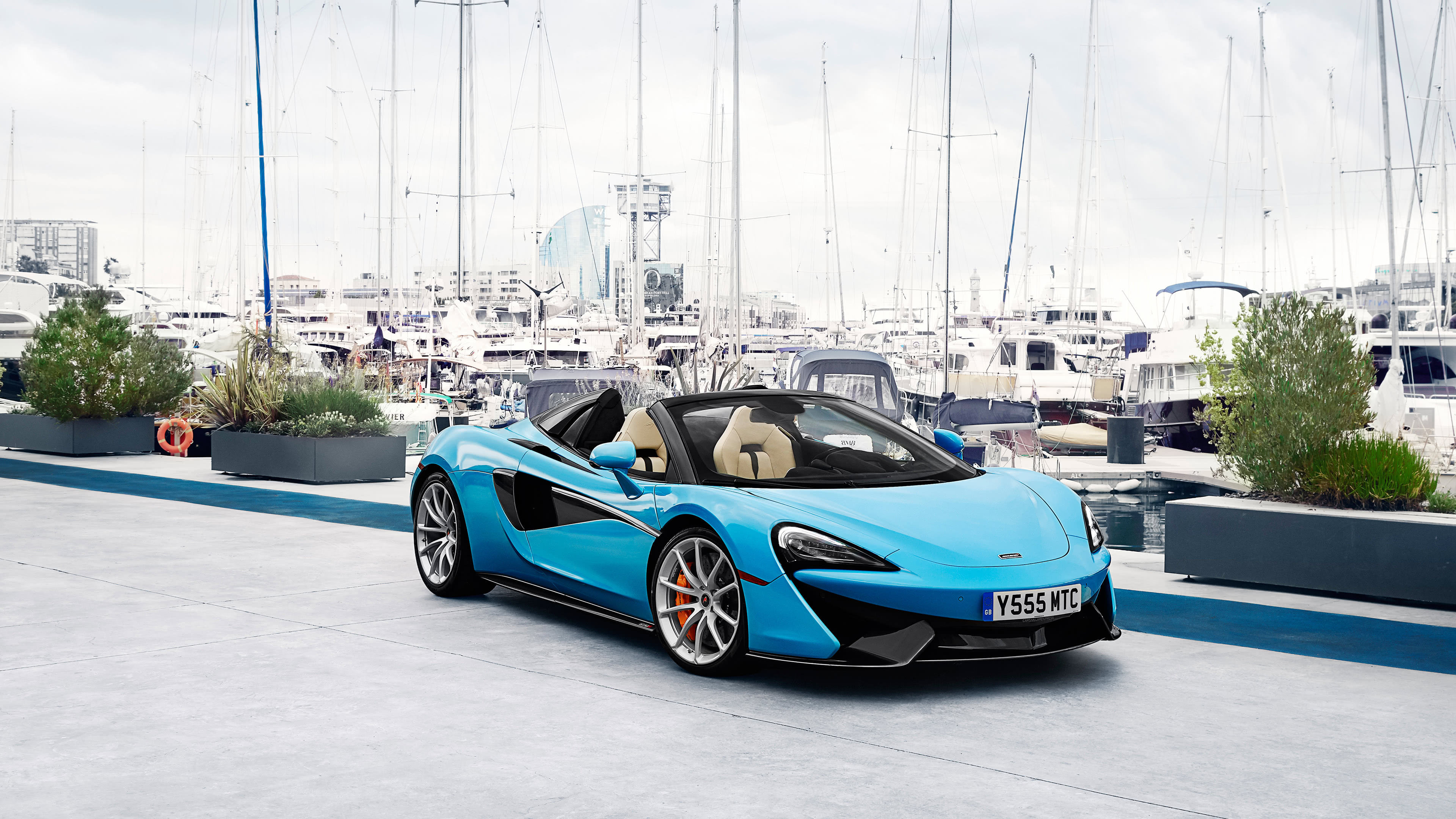 McLaren 570S Spider Blue UHD 4K Wallpaper Pixelz 3840x2160