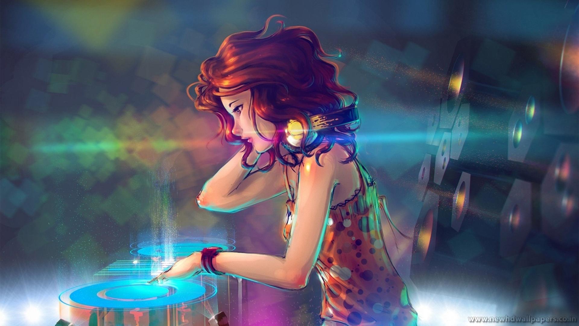 Girl DJ Background wallpaper Girl DJ Background hd wallpaper 1920x1080