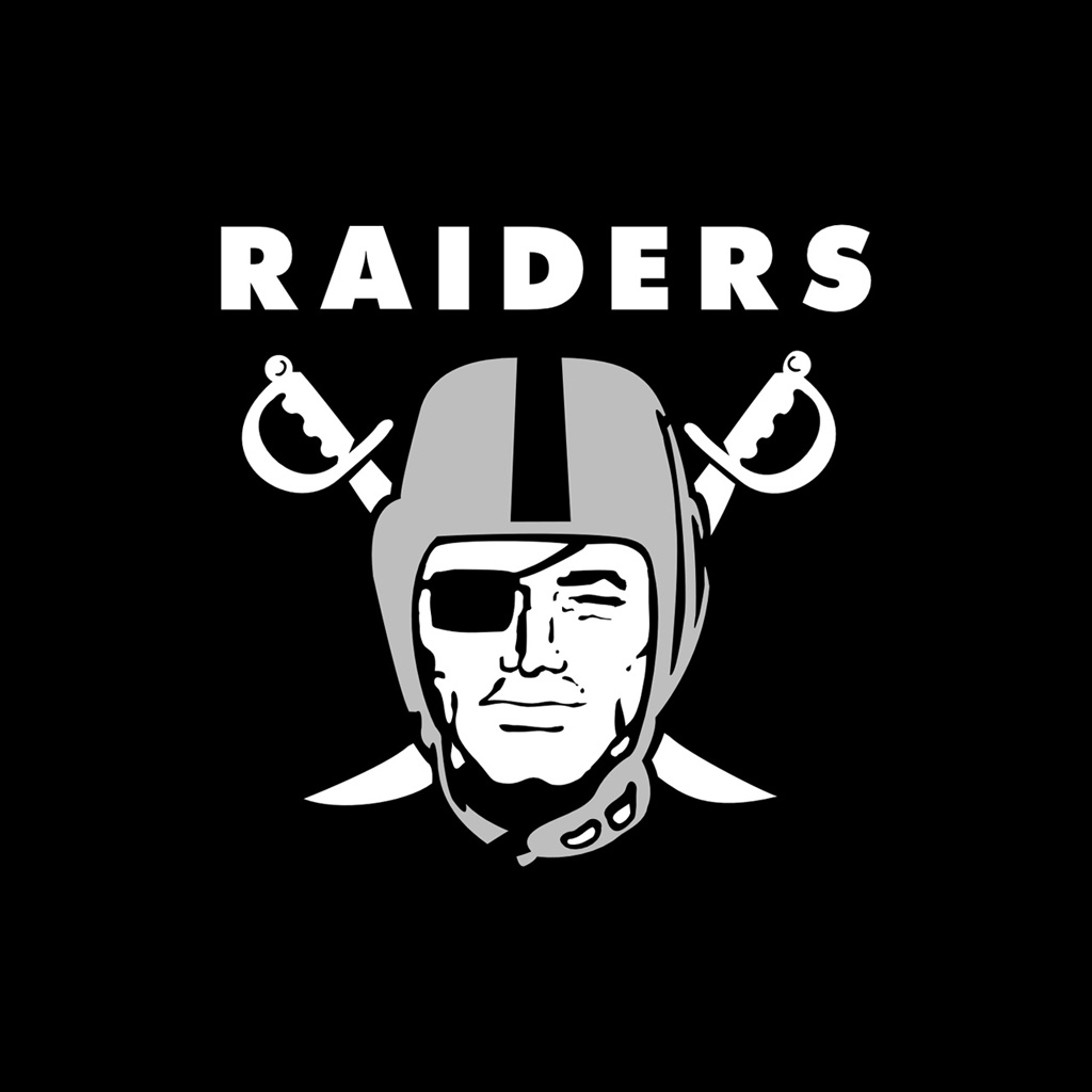 iPad Wallpapers with the Oakland Raiders Team Logos 1024x1024