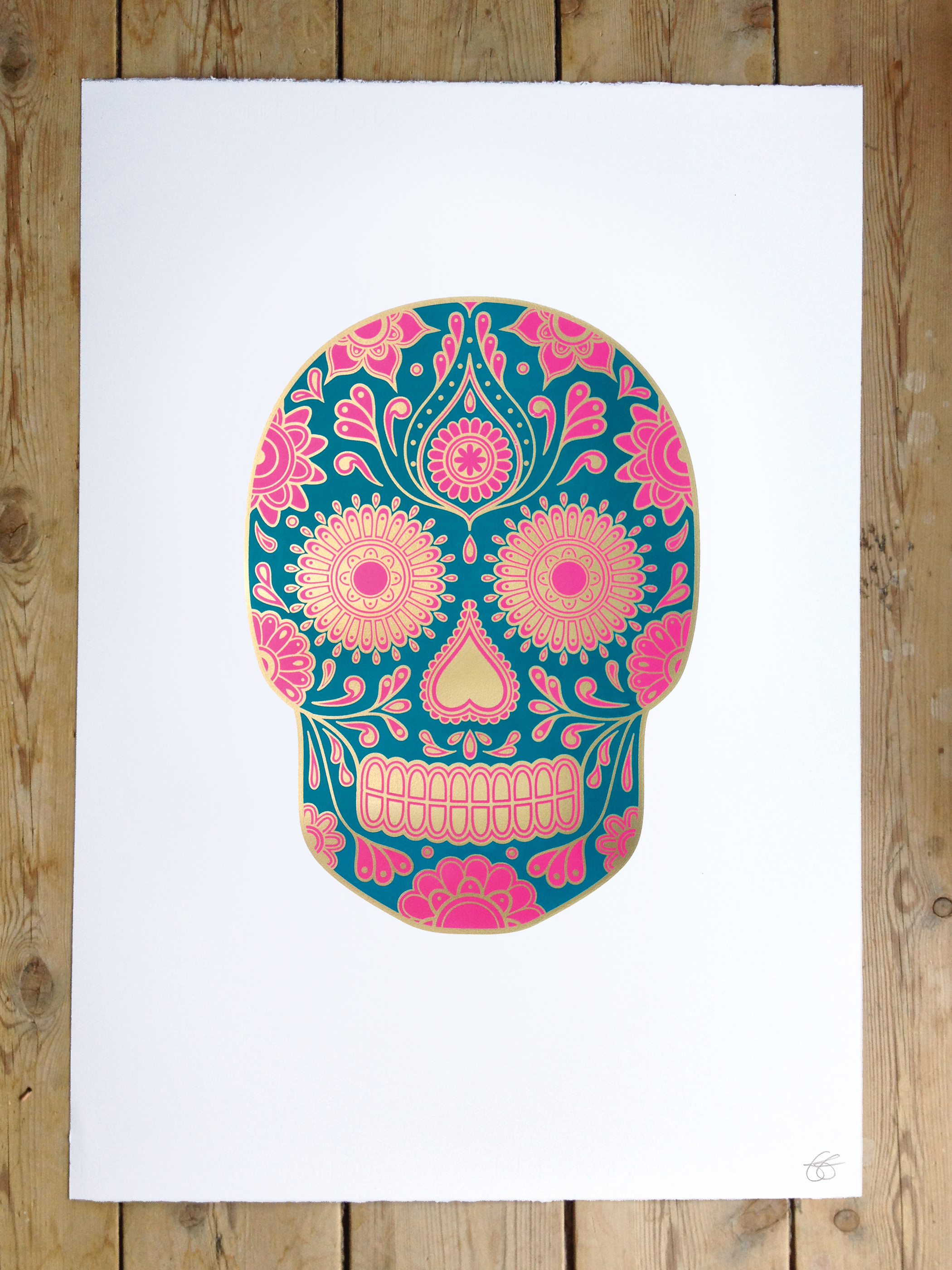 sugar skull wallpaper for home wallpapersafari. Black Bedroom Furniture Sets. Home Design Ideas