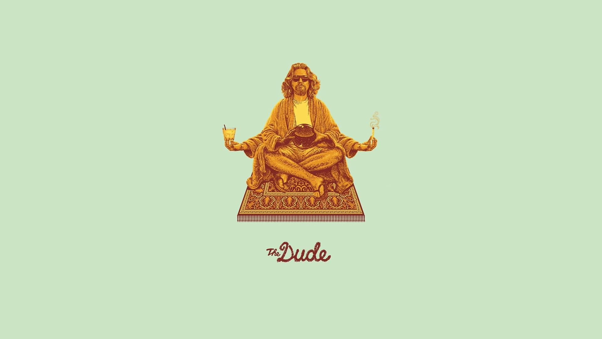 The Dude wallpaper Big Lebowski The Dude meditating on carpet lotus 1920x1080