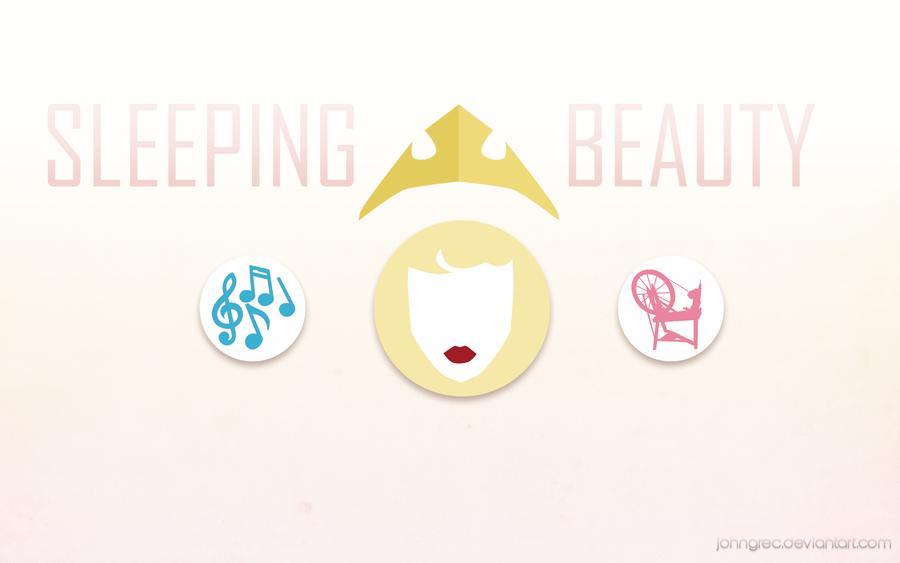 DISNEY MINIMALIST Sleeping Beauty by johngreeko 900x563