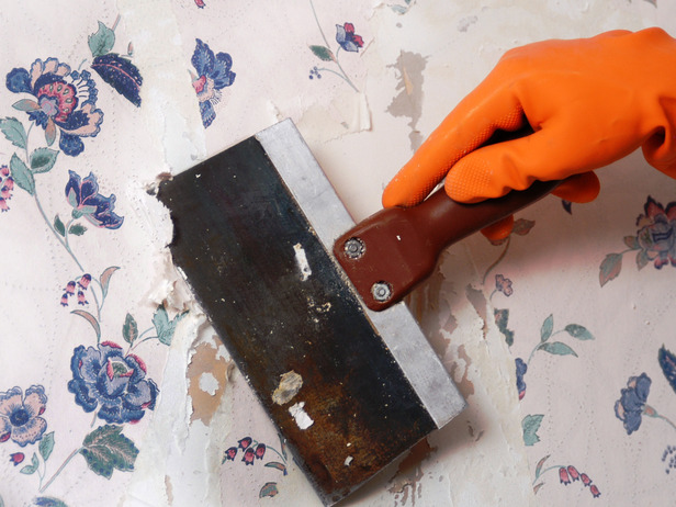 How to Remove Wallpaper Using Solvents or Steam how tos DIY 616x462