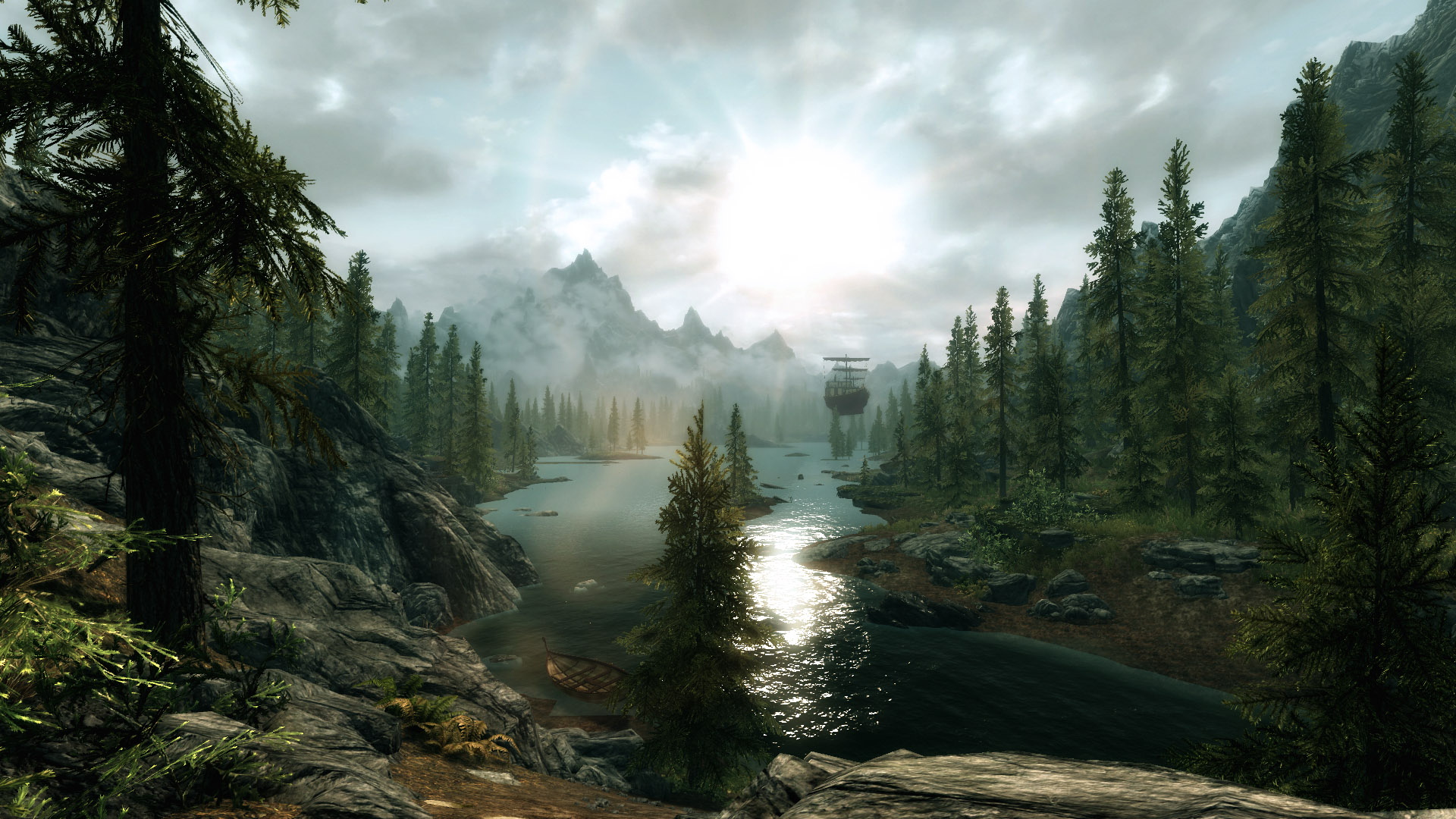how to put skyrim in full screen
