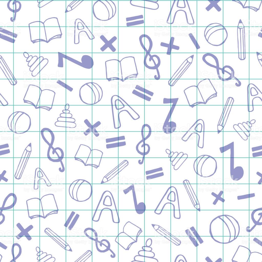 Seamless Vector Pattern For School Kindergarten Nursery School 1024x1024