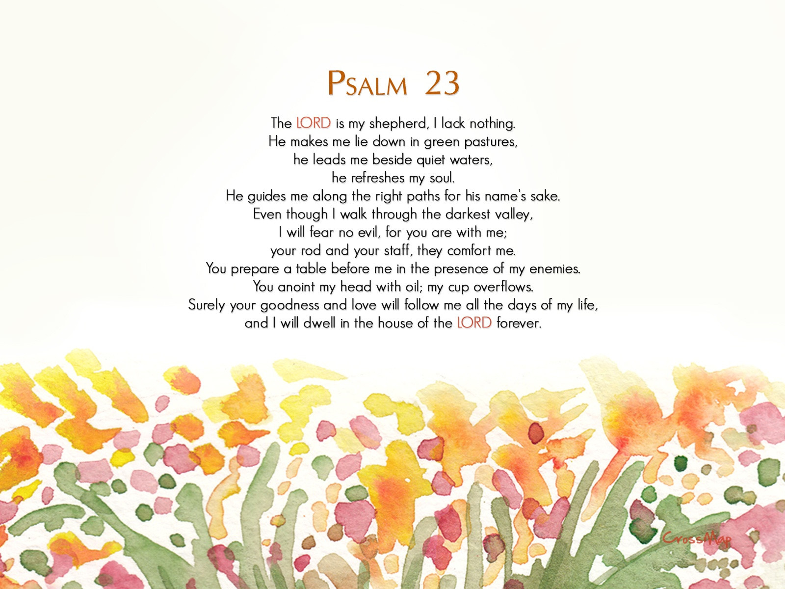 Psalms 23 Wallpaper