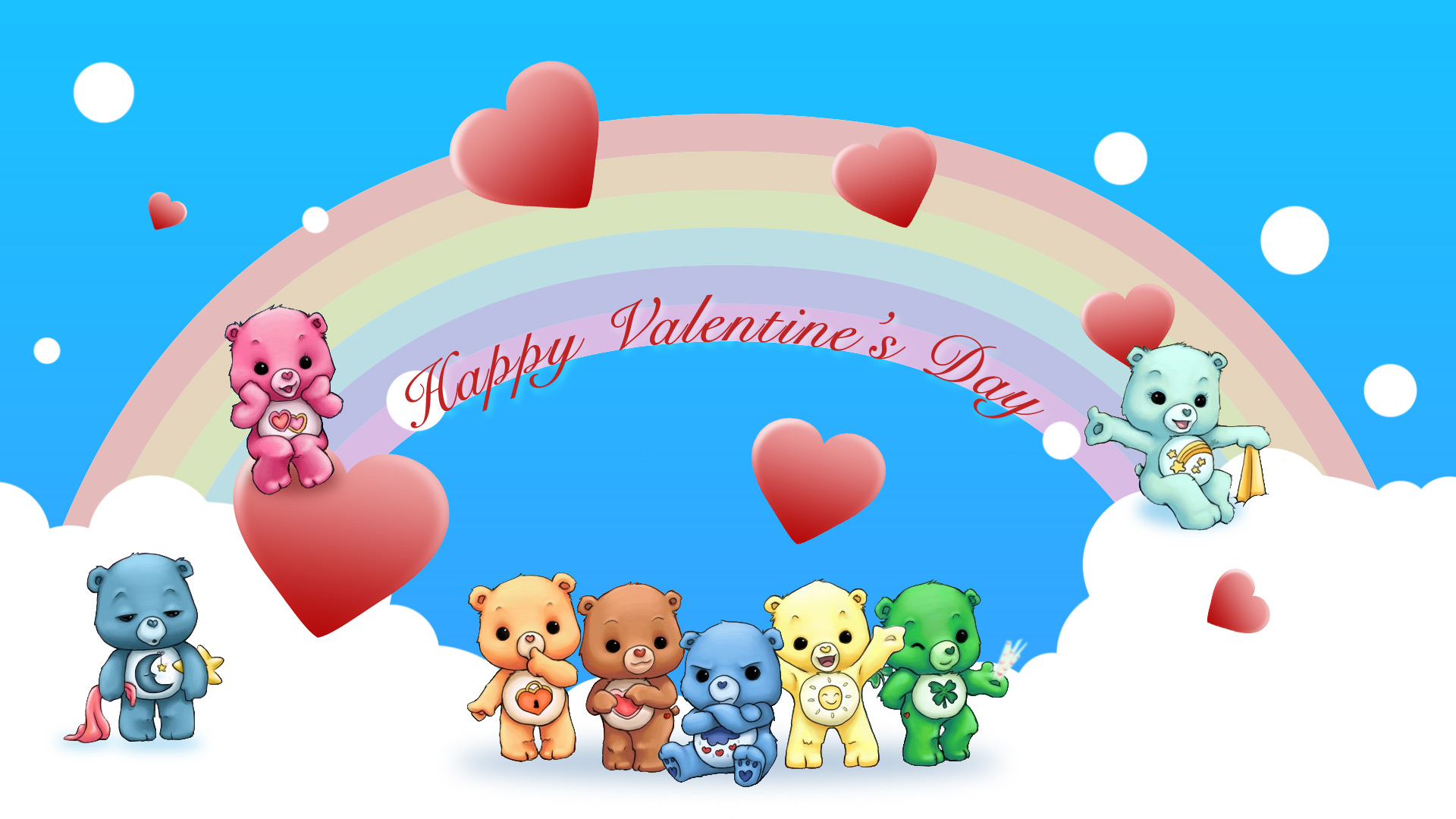 Cute Greeting Happy Valentine Day Wallpaper Desktop Wallpaper with 1920x1080