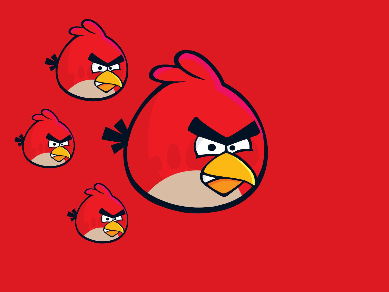 Fondo de Pantalla Red Angry Birds 1600x1200