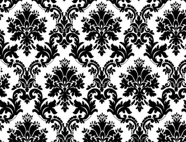 Black White Floral Background by inferlogic 650x498