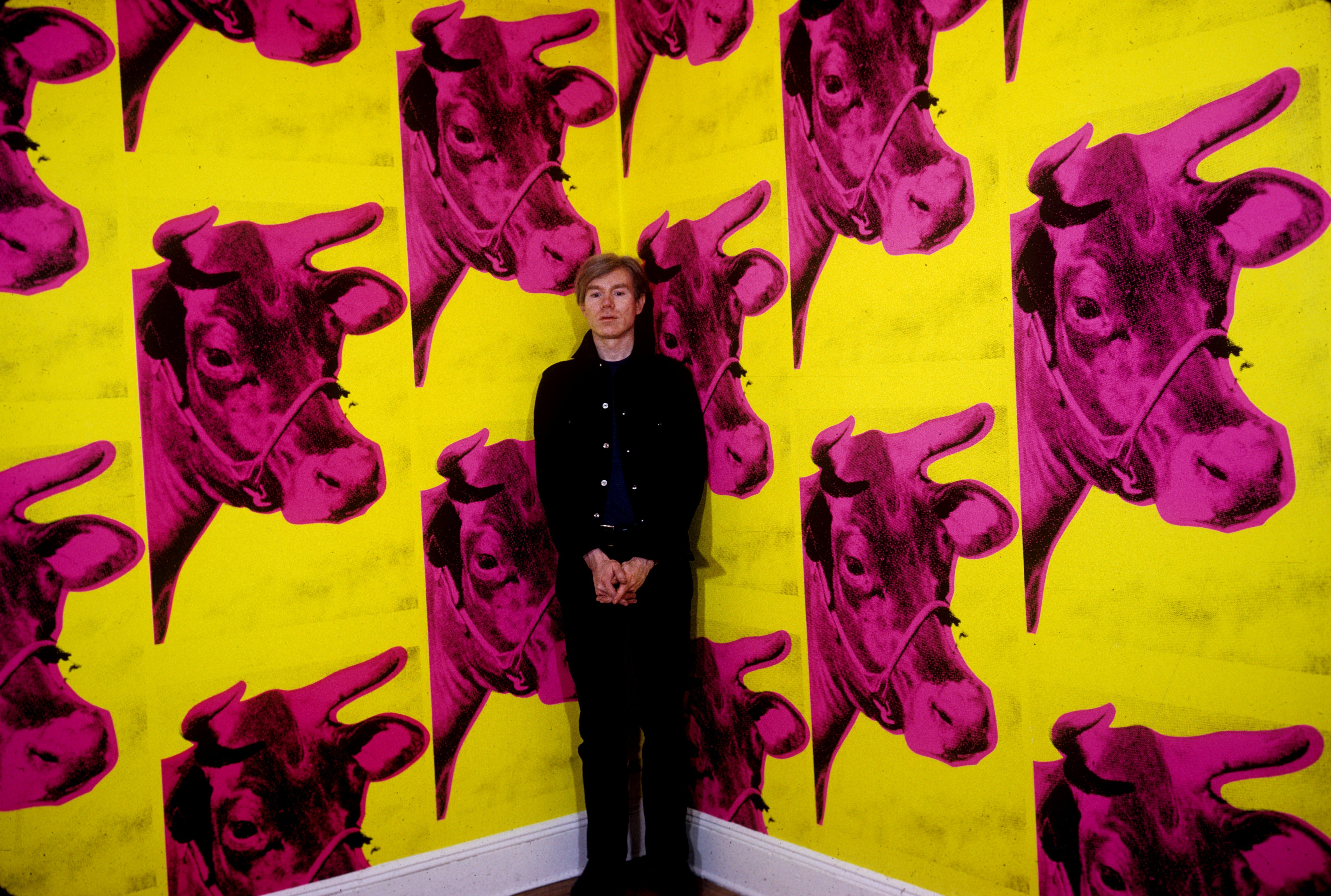 andy warhol cow wallpaper 1966 wallpapersafari. Black Bedroom Furniture Sets. Home Design Ideas