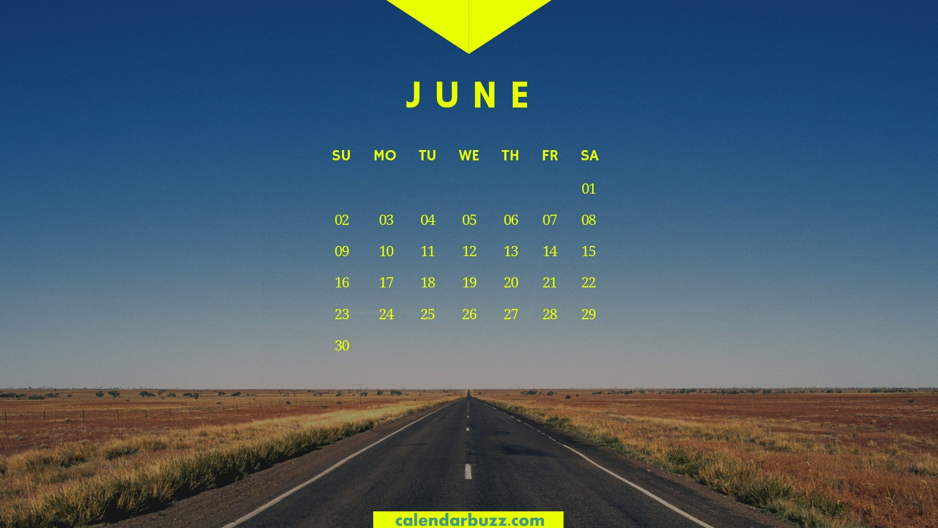 June 2019 Calendar HD Wallpaper   Printable Calendar 1920x1080