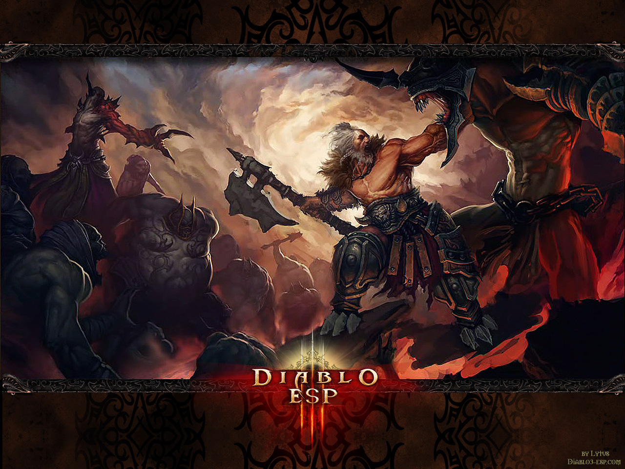 Diablo 3   Barbarian Wallpaper by Lythus 1280x960