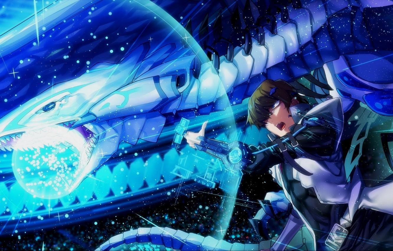 Wallpaper magic dragon anime art guy Yu Gi Oh images for 1332x850
