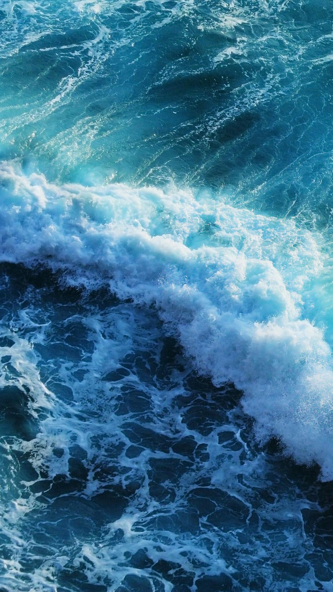 Beautiful blue waves iphone 6 plus wallpaper Wallpapers 1080x1920