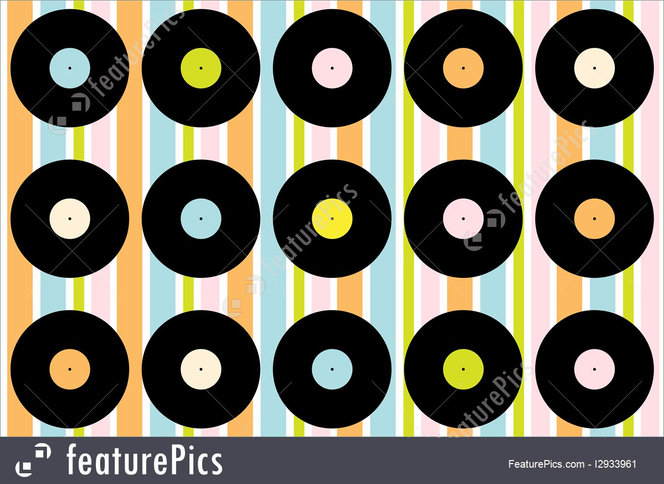 Illustration Of Vintage Vinyl Record Wallpaper 1300x949