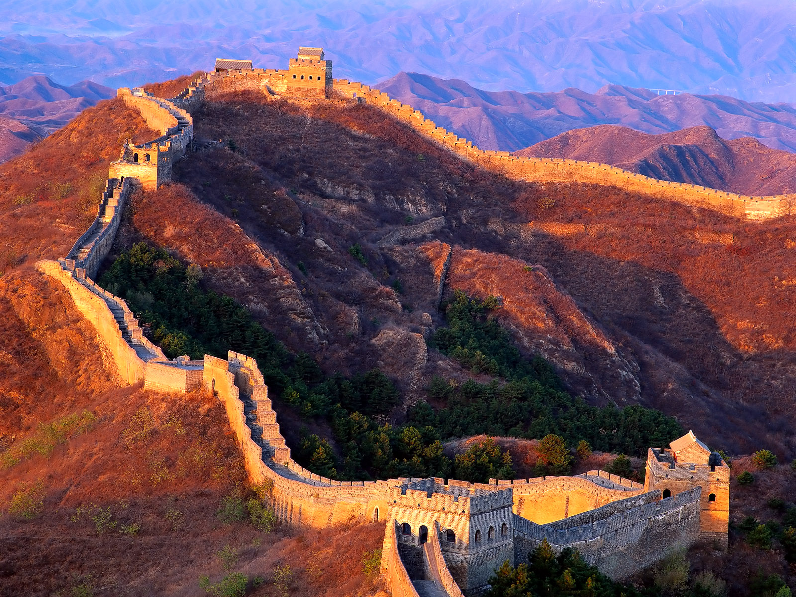 Black Wallpaper Great Wall of China 1600x1200