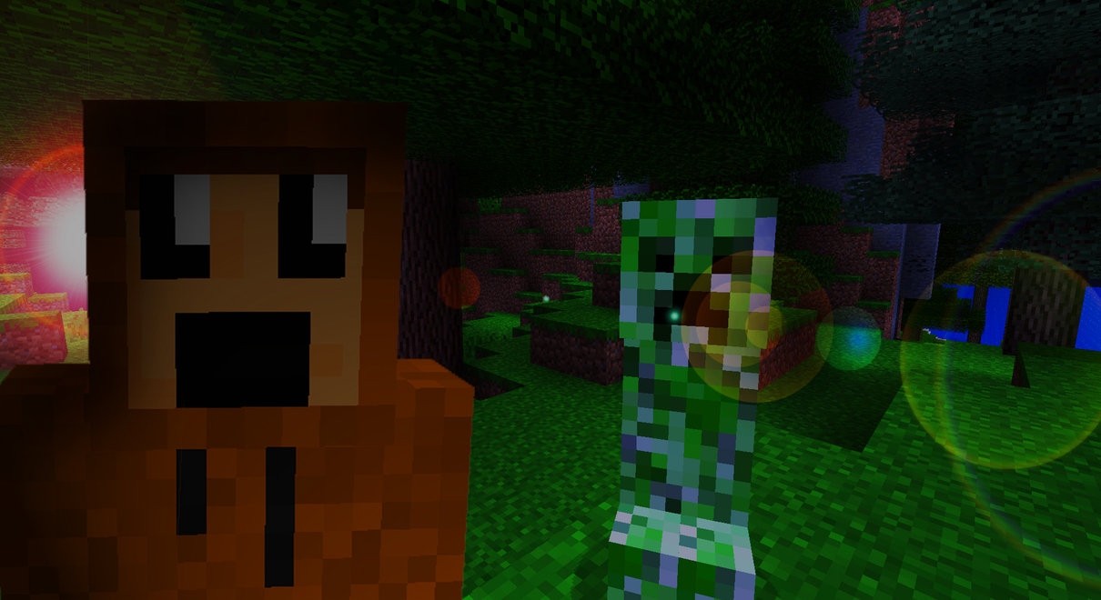 Minecraft Creeper Wallpaper by IsaacArtHampshire 1210x660