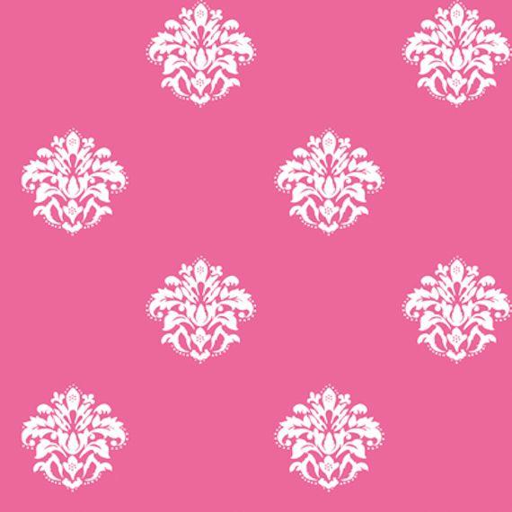 pink and white damask wallpaper Pattern Pinterest 570x570