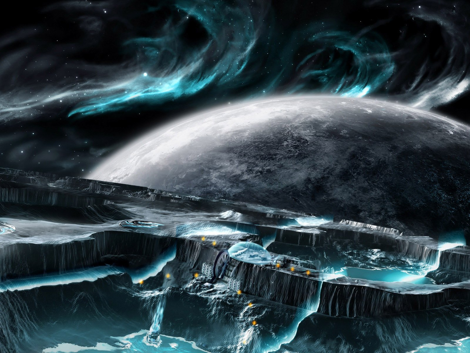 High quality field development mining Science Fiction Sci fi 1600x1200