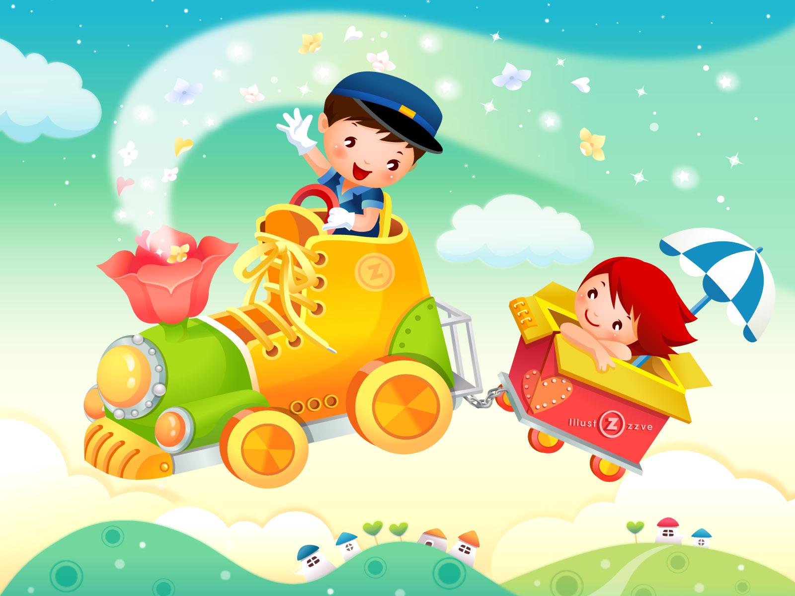 48 children background wallpaper on wallpapersafari - Cartoon boy wallpaper ...