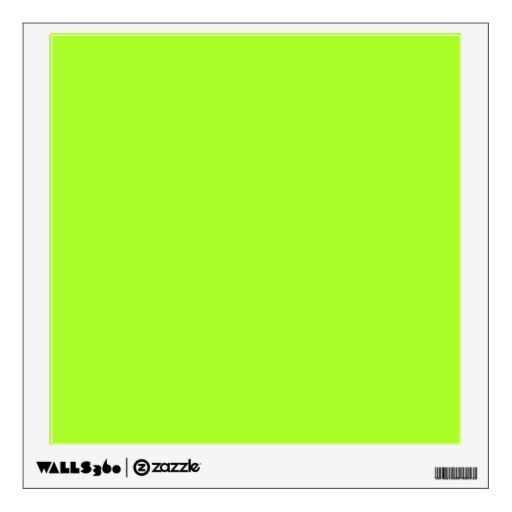 Neon Limeade Yellow Green Solid Color Background Wall Decals Zazzle 512x512