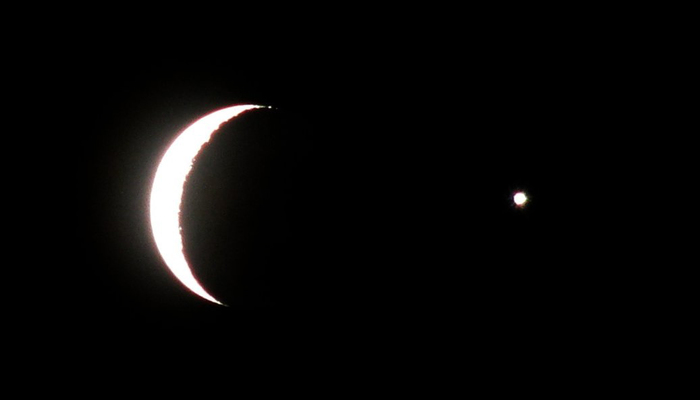 The Moon And Planet Venus A Crescent Star Here 700x400