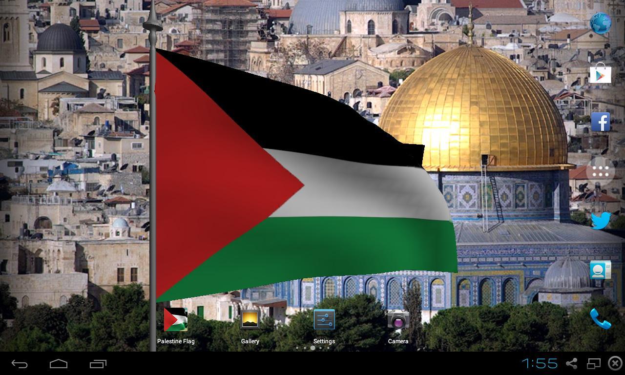 Palestine Flag Live Wallpaper   screenshot 1280x768