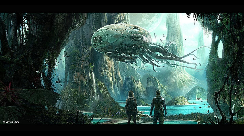 Sci Fi Landscape Wallpaper HD - WallpaperSafari