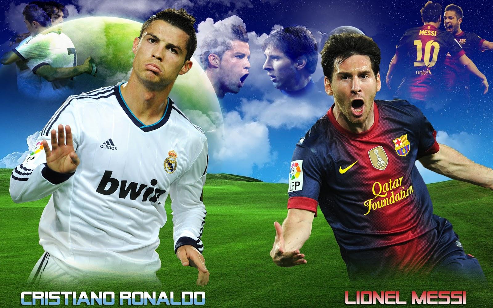 Cristiano Ronaldo vs Lionel Messi Wallpapers HD 2013 1600x1000