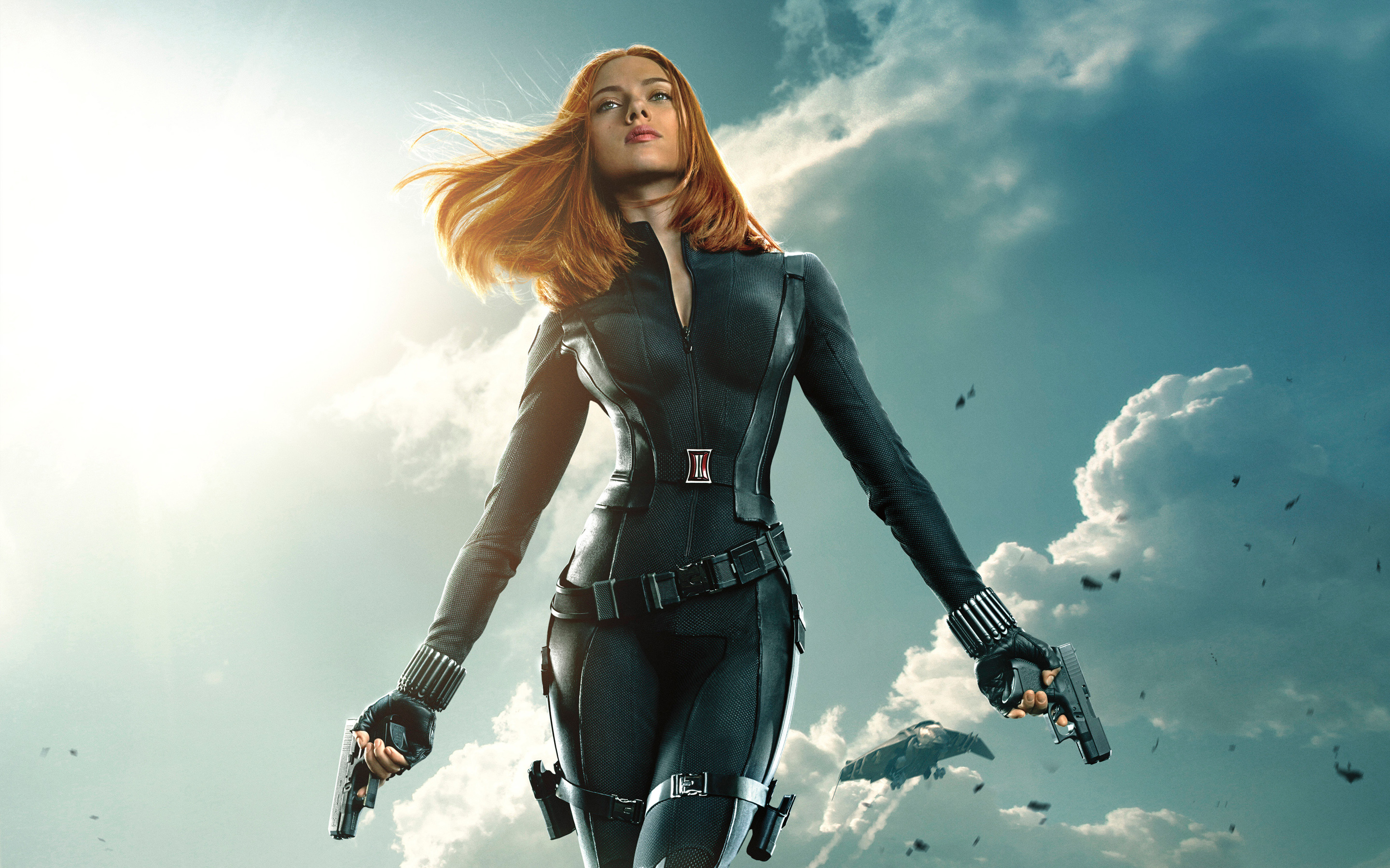 Black Widow Captain America The Winter Soldier Wallpapers HD 2880x1800