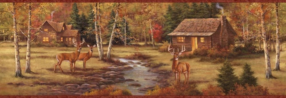 Wallpaper Deer And Cabin Wallpapersafari