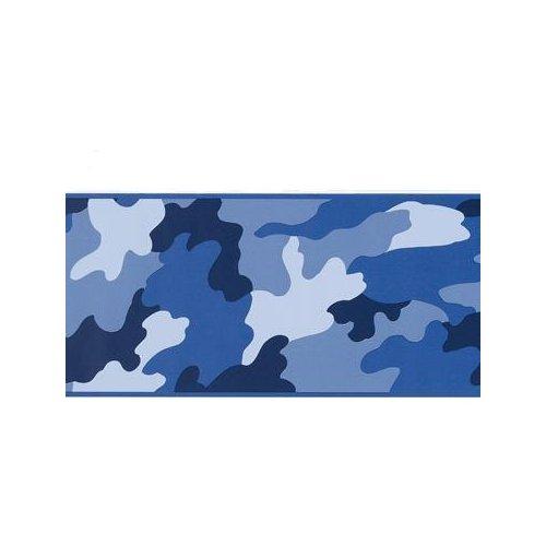 Navy Blue Wallpaper Border 500x500