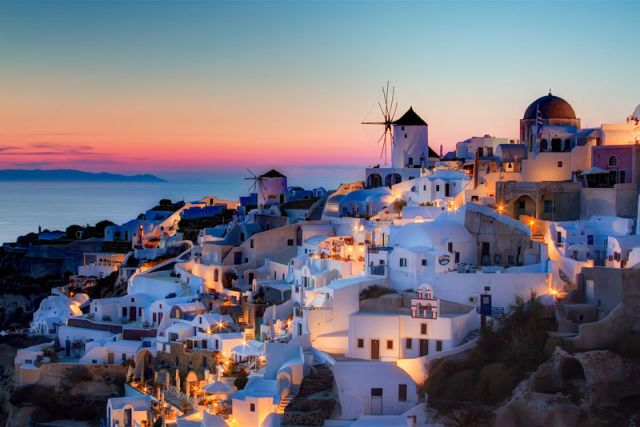 Pin Santorini Sunset Wall Mural Ocean Wallpaper Murals 640x427