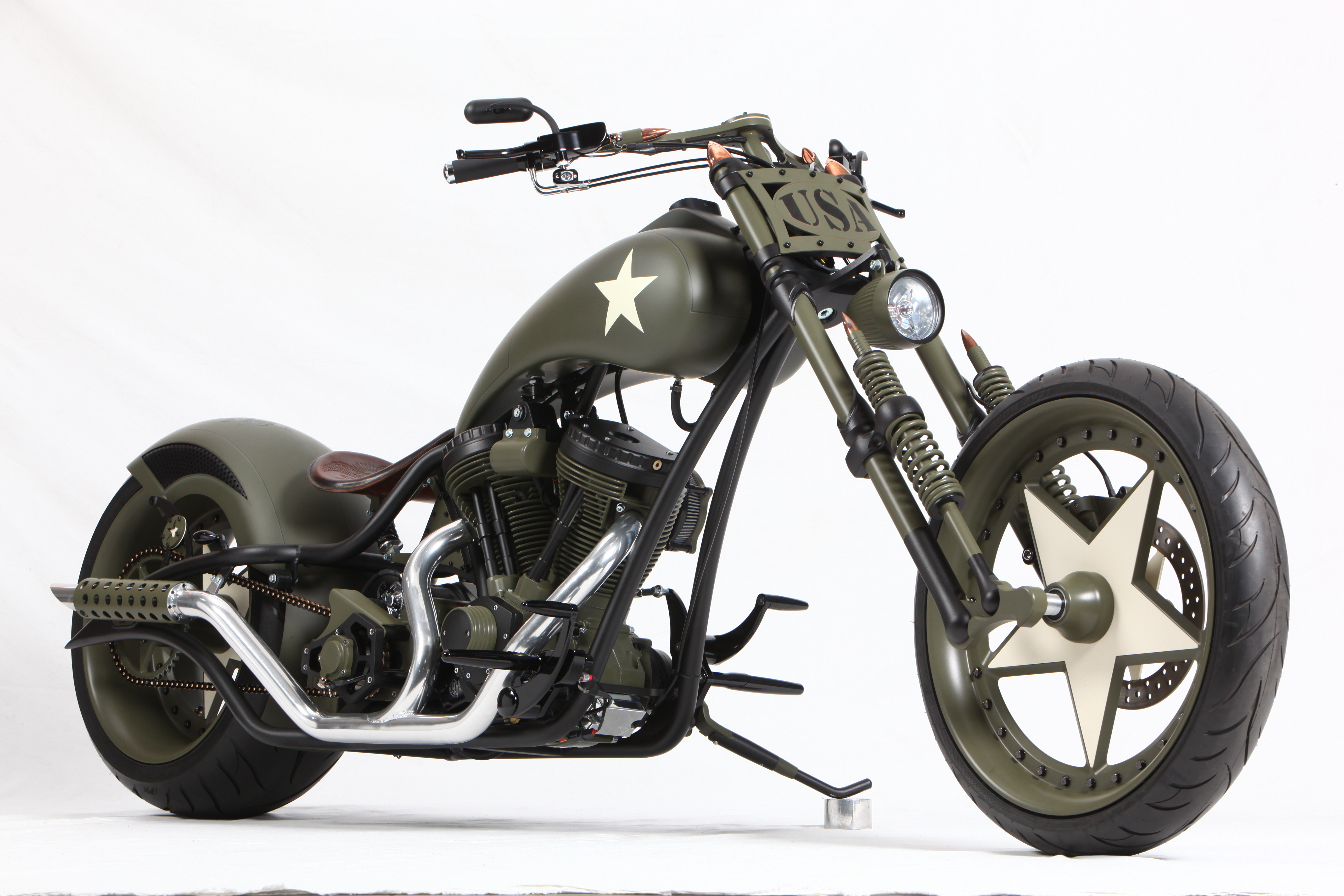 CUSTOM CHOPPER motorbike tuning bike hot rod rods military 5616x3744