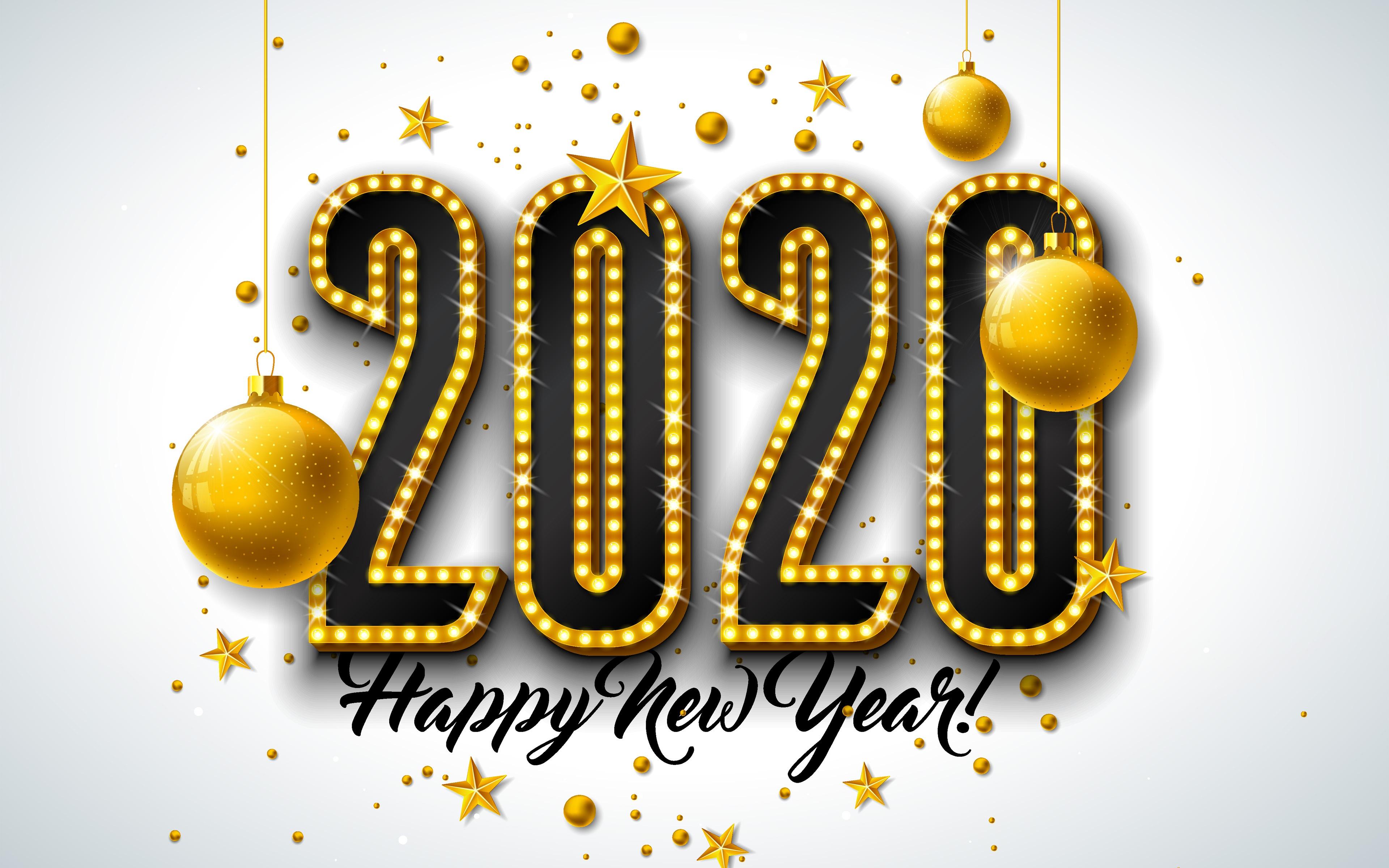 New Year 2020 4k Ultra HD Wallpaper Background Image 3840x2400 3840x2400
