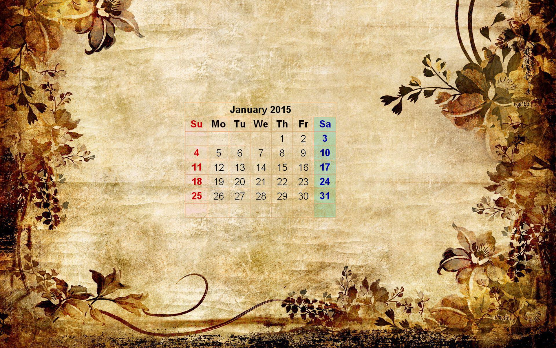 wallpapers with calendar 2015 wallpapersafari