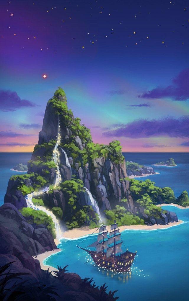 Magic Island iWallpaper in 2020 Magic island Peter pan 640x1020
