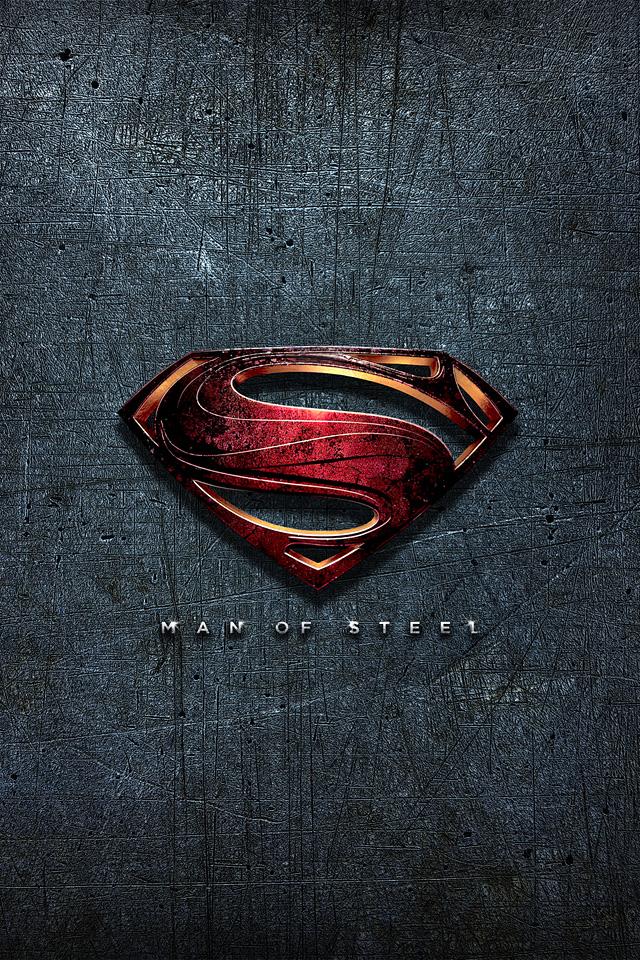 Man Of Steel Superman Wallpaper Man of steel logo superman 640x960