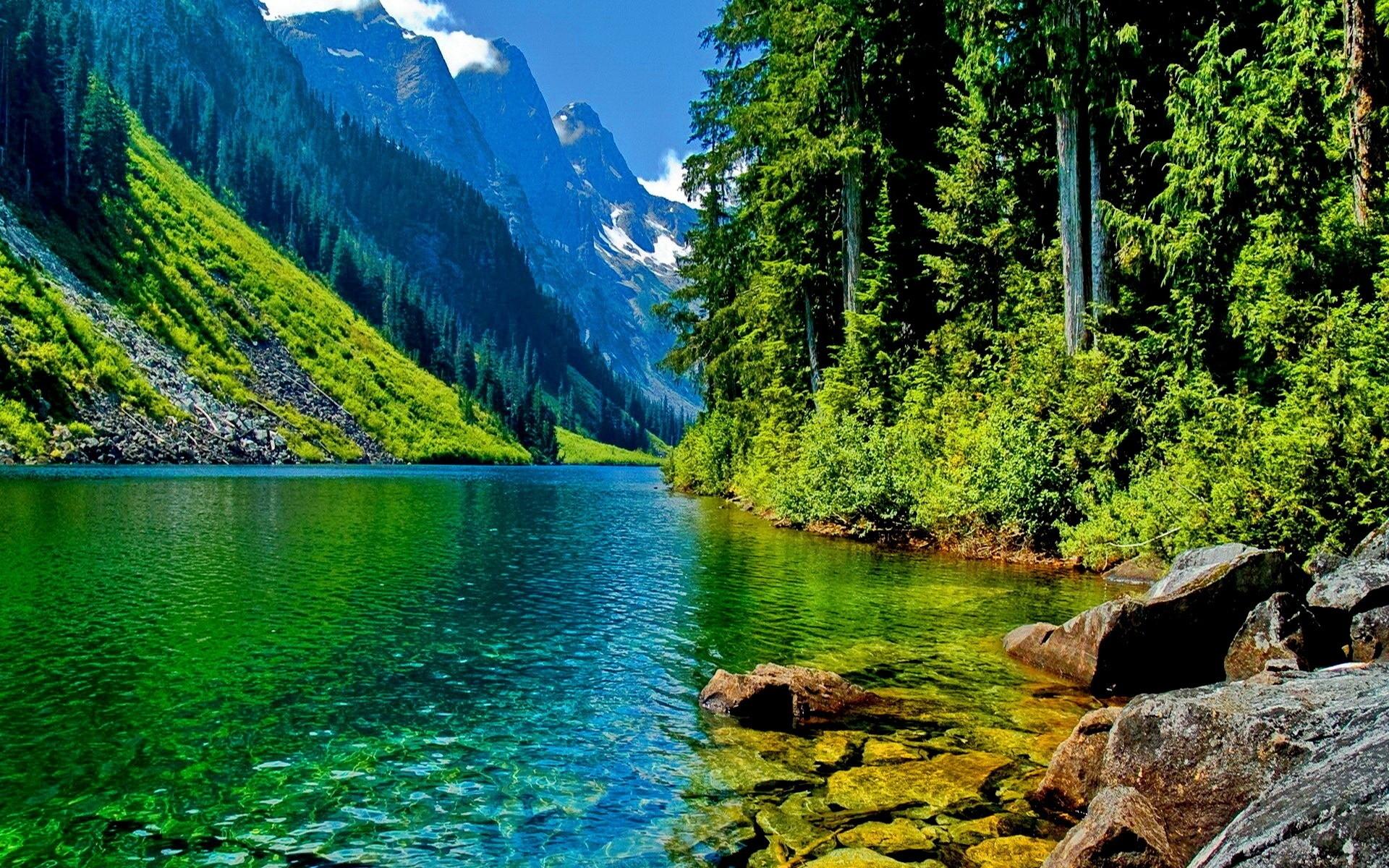 landscape mountain river HD Desktop Wallpaper HD Desktop Wallpaper 1920x1200