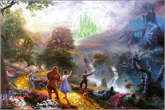 Thomas Kinkade Disney Wallpaper 580x388