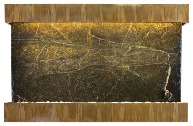 Quarry Green Marble Copper Patina 51 Wide Wall Fountain contemporary 640x418