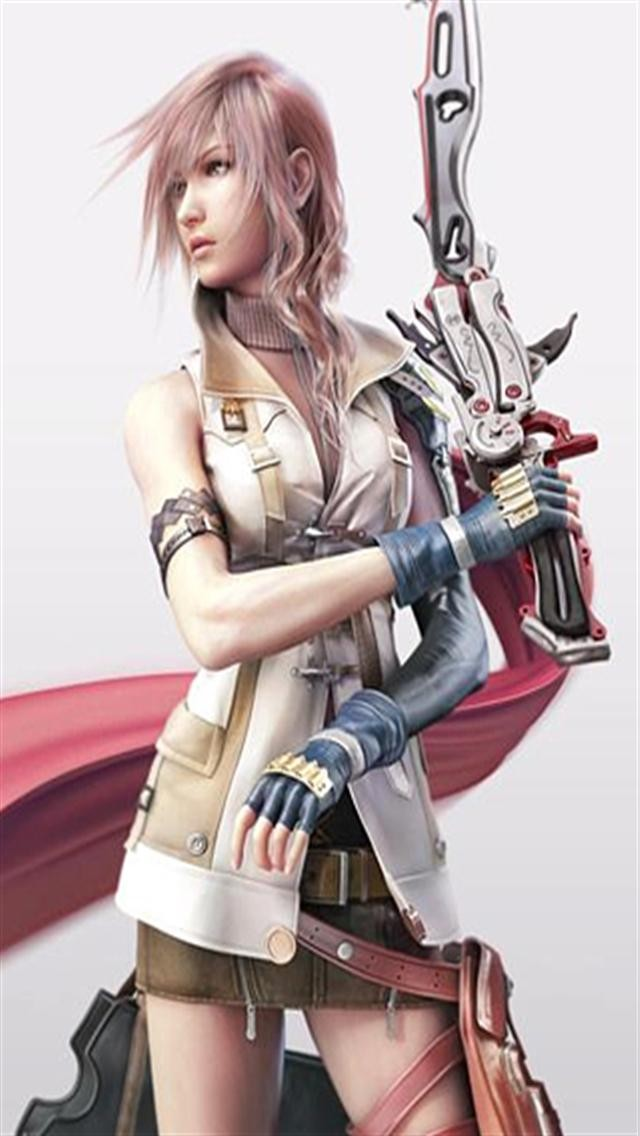 Final Fantasy XIII and Lightning Game iPhone Wallpapers iPhone 5s4 640x1136