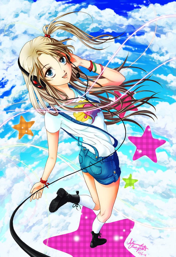 DeviantArt More Like Anime Gamer Girl Wallpaper by sonicrules13s 740x1079